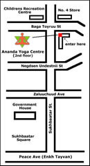 Map of Ananda Yoga Centre